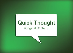 Quick Thought on Social Media: Original Content