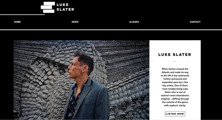 Luke Slater Website