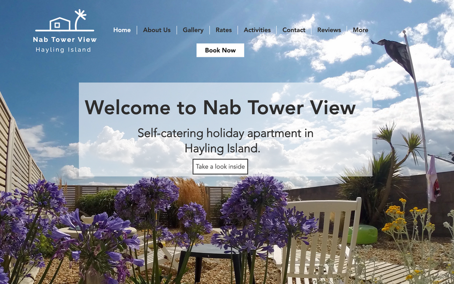 Hayling Island Holiday Rental, Nab Tower View