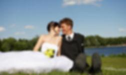Lakeside outdoor wedding Schott's Lake Alberta