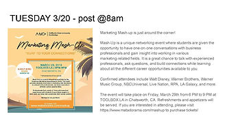 MatadorAMA Social Media Calendar updated