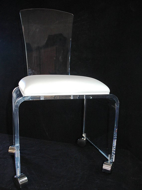 Clear Acrylic Desk Chair with Rolling Casters