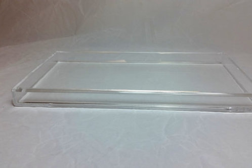 "Clear Acrylic Lucite Large Serving, Storage or Display ""Randi"" Tray"