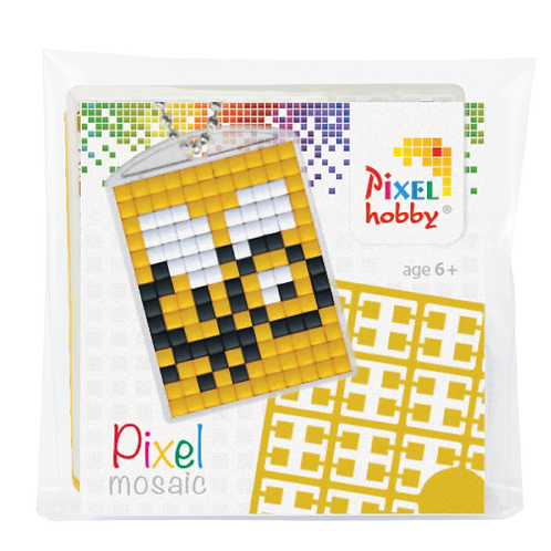 Pixel key-ring set Bij
