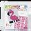 Thumbnail: Pixel key-ring set Flamingo