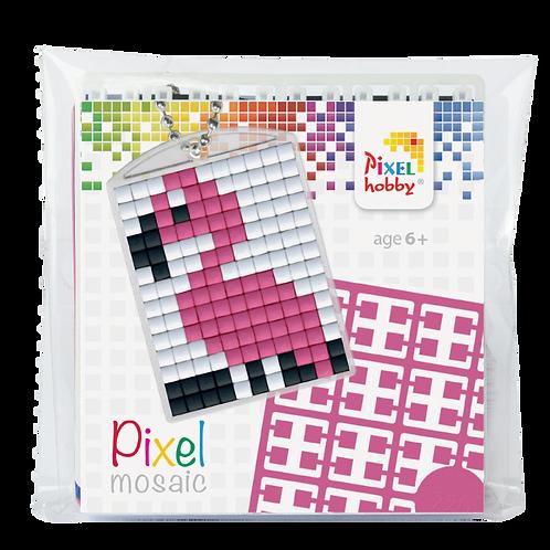 Pixel key-ring set Flamingo