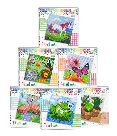 pixel set, pixelhobby, pixelgift, cactus, frog, toys, hobby, create, diy, flamigo's
