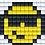 Thumbnail: Pixel key-ring set Smiley
