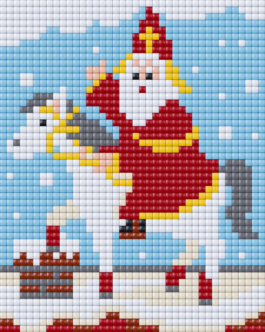 Sinterklaas op paard   4 basisplaten