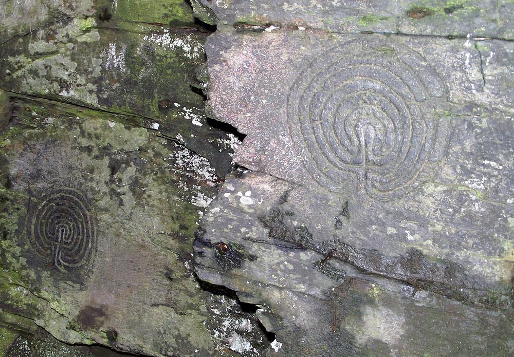 Labyrinths - Carved into Rockface - Near Boscastle