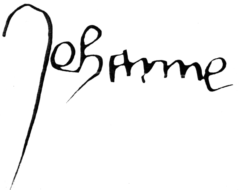 Signature of Joan of Arc