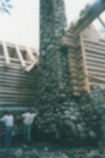 stone, masonry, stonwerk, employee, log, wood, cabin, old, timeless