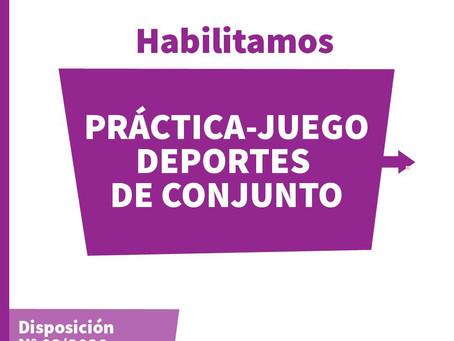 Nuevas Prácticas Deportivas Habilitadas!!!