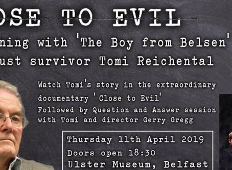 Close to Evil: An evening with Holocaust survivor Tomi Reichental