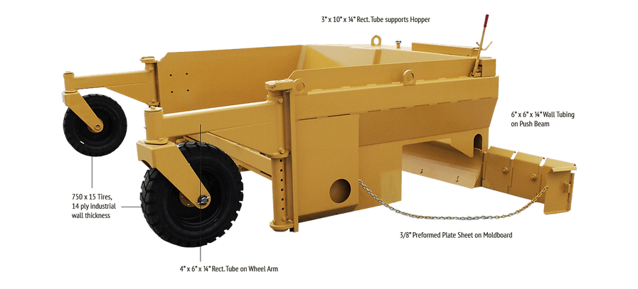 R600C aggregate base spreader for road construction