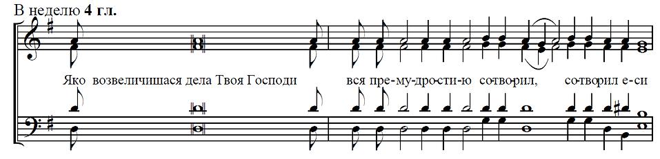 Прокимен воскресный на Литургии глас 4