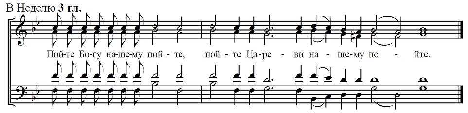 Прокимен воскресный на Литургии глас 3