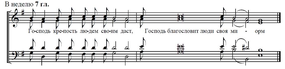 Прокимен воскресный на Литургии глас 7
