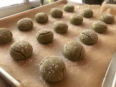 Gluten Free Matcha Amaretti Cookie