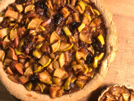 Gluten Free Apple Pie with Figs, Dates, Prunes and Raisins