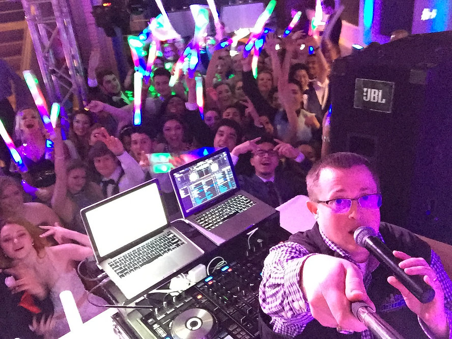 Picture of a prom with a DJ