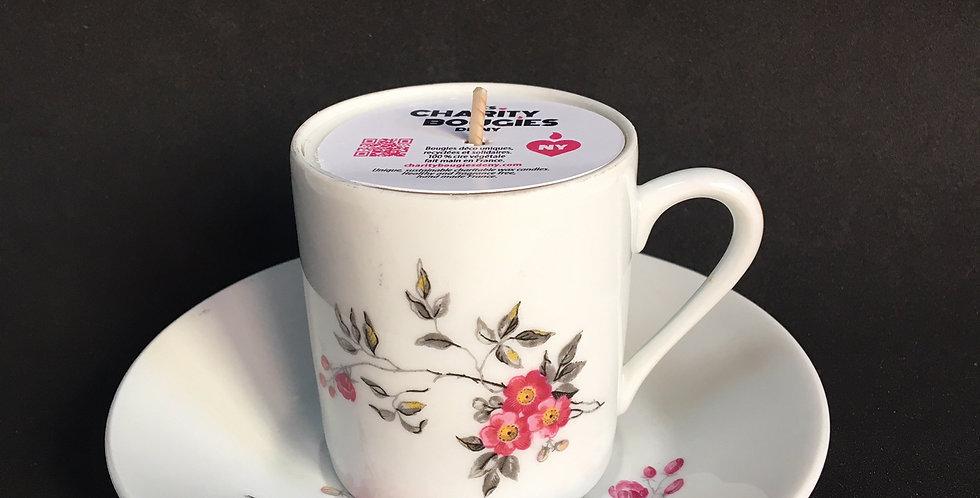 Bougie tasse a cafe porcelaine cire vegan