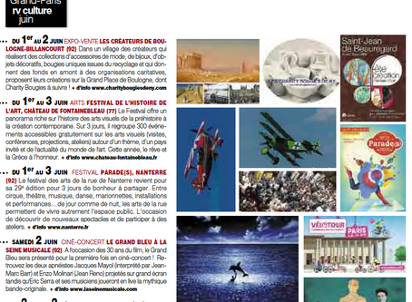 """Mise en lumière dans mon cher magazine """"VOISINS VOISINES GRAND PARIS"""""""