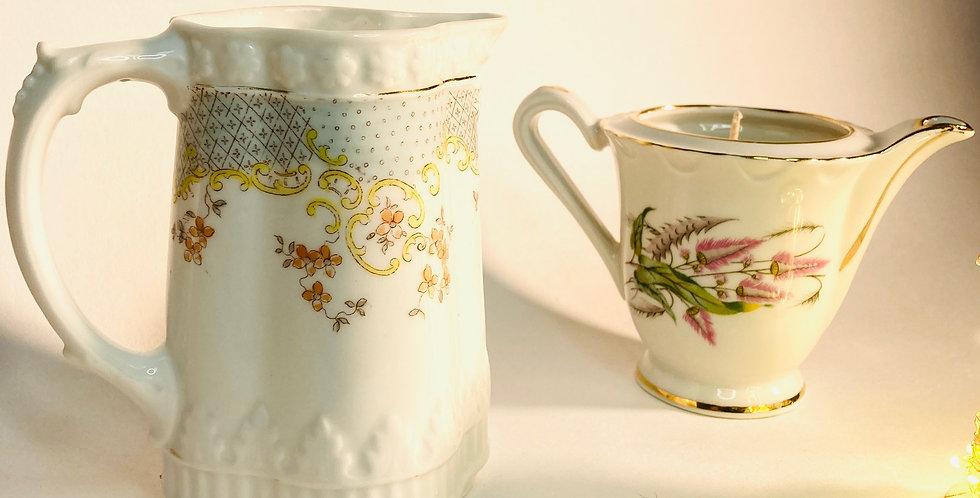 Bougie pot à lait haut et pastel