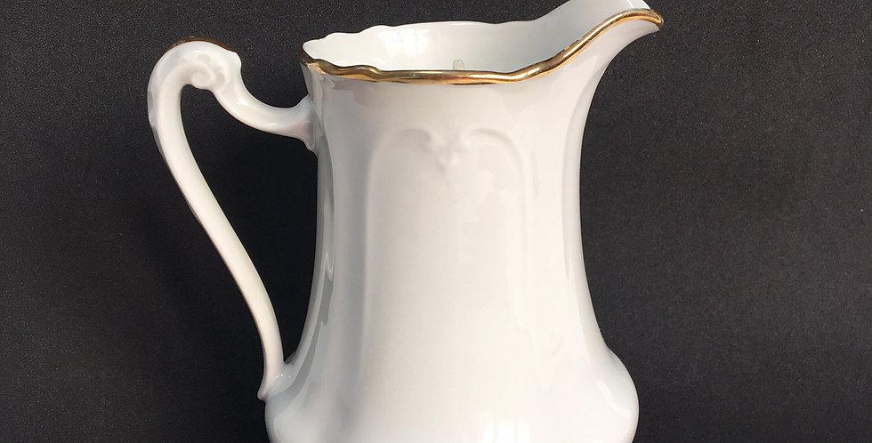 Bougie pot à lait haut à filet doré