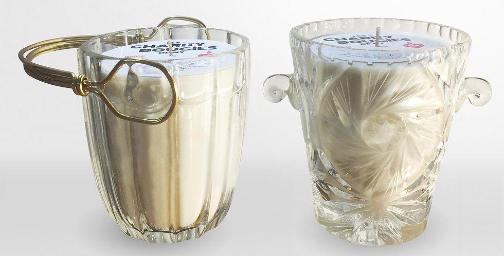 Bougie Seau à glace vintage