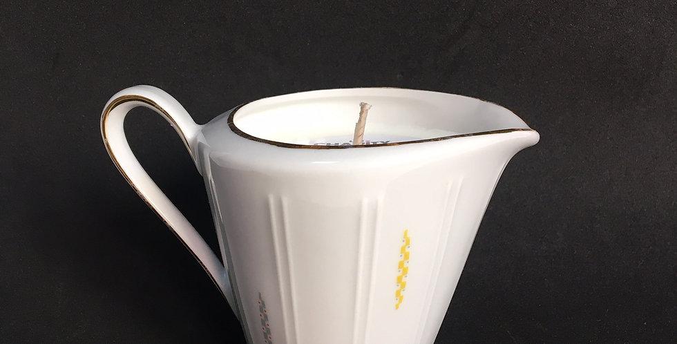 Bougie pot à lait vintage