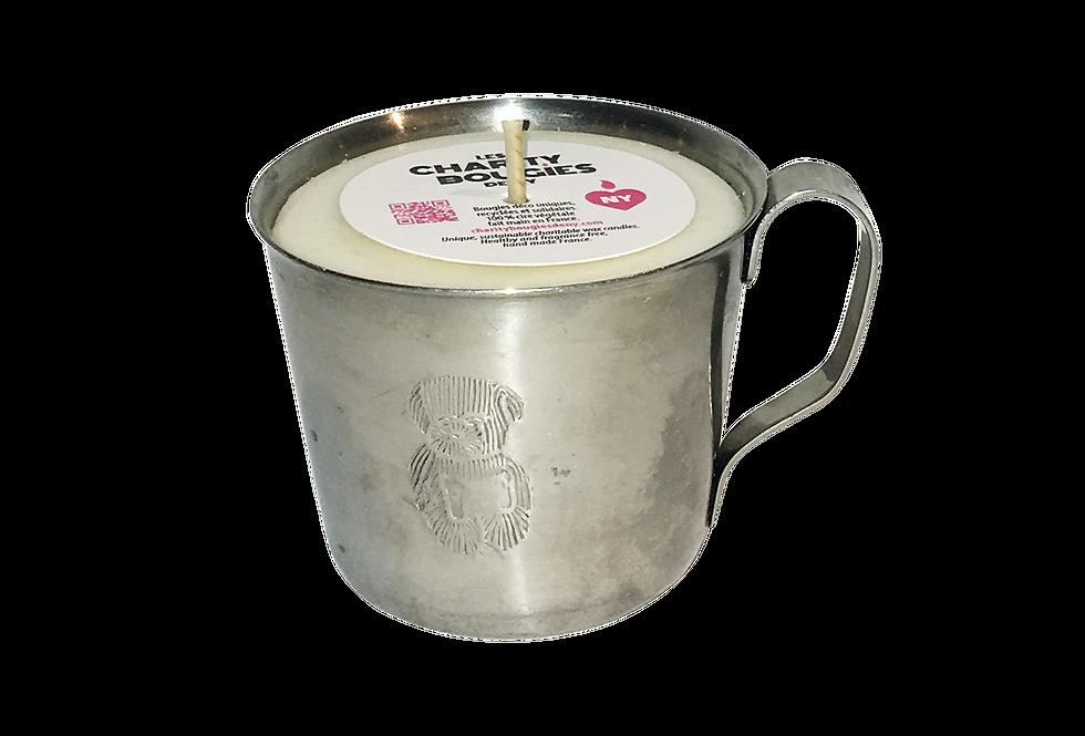 bougie-tasse-inox-gravee-ourson--cire-vegetale-charitybougiesdeny