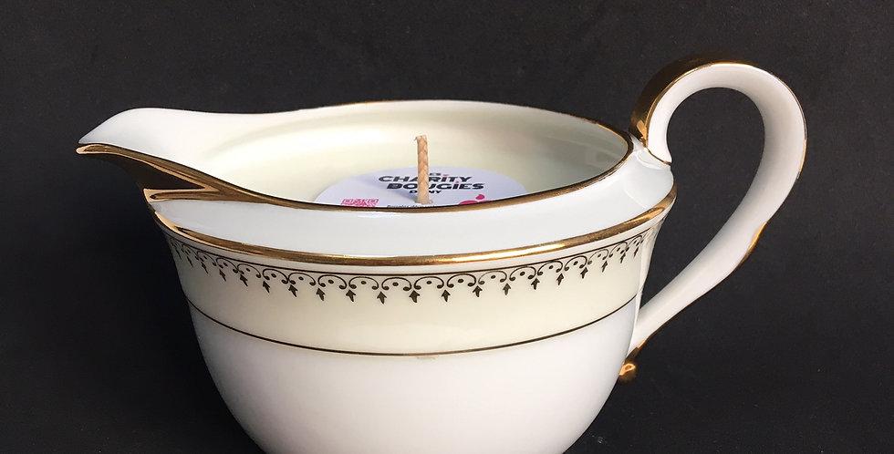 Bougie pot à lait en porcelaine royale