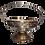Bougie grande coupe en métal argenté