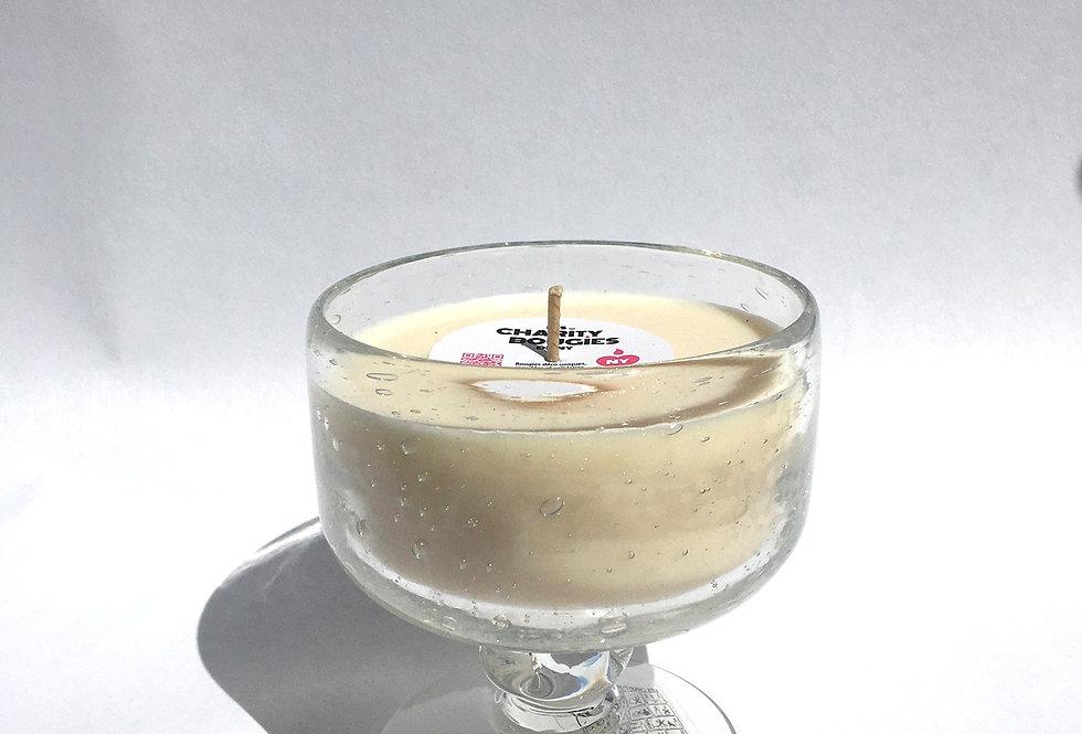 Bougie verre blanc comme à Biot