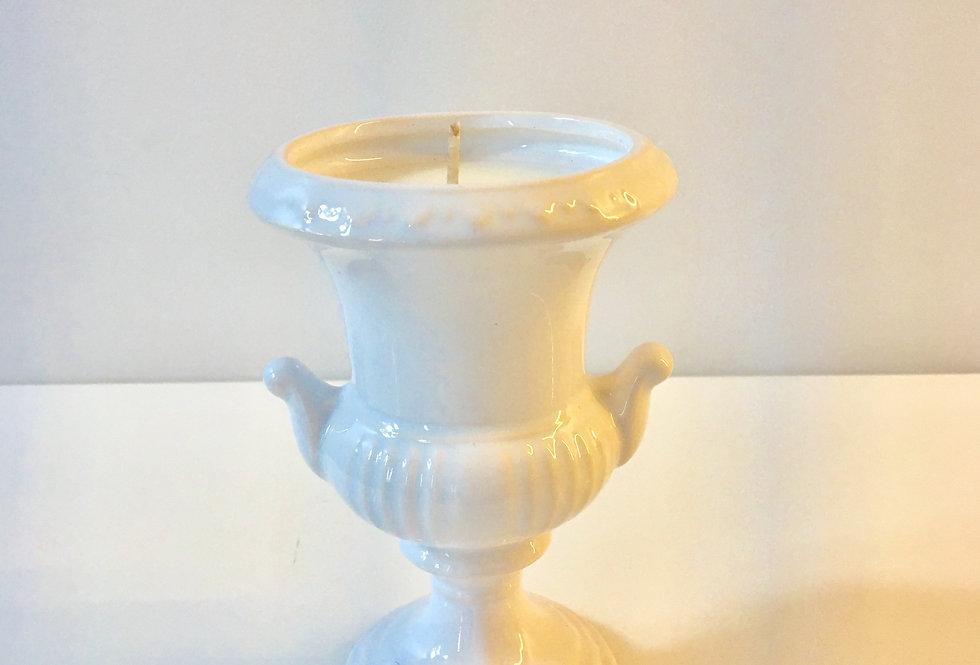 Bougie Amphore en porcelaine rococo