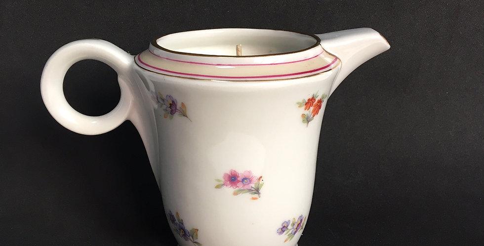 Bougie pot à lait porcelaine fine cire vegan