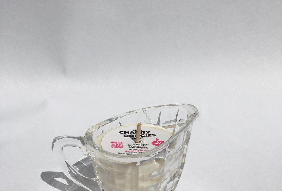 Bougie pot à lait en cristal