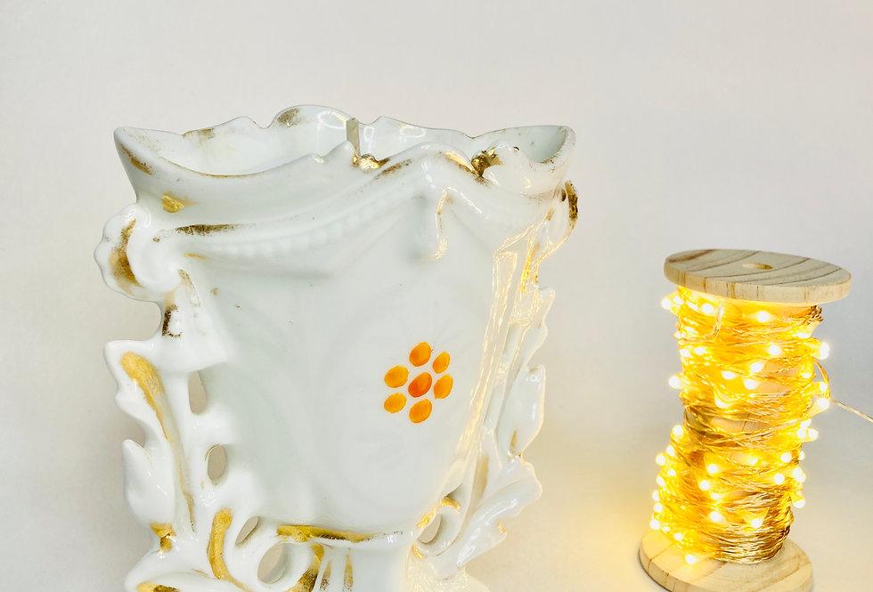 bougie petit vase de mariée en porcelaine de paris
