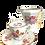 Thumbnail: Ensemble tasse et pot à lait à la rose