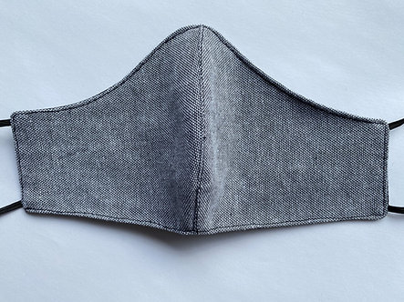 Adult & Kid Denim Style Grey Face Mask
