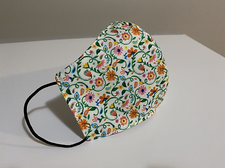 Flower Pattern Face Mask for Adults
