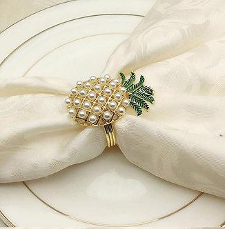 Pineapple Napkin Ring Set