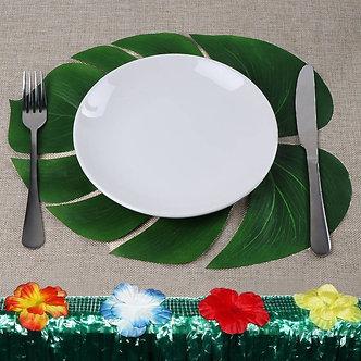 Our Warm 12pcs 35x29cm Palm Leaf Table Placemats