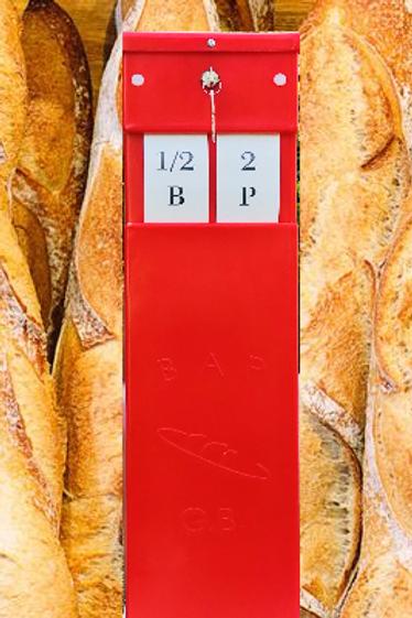 Boîte à pain GB - Rouge
