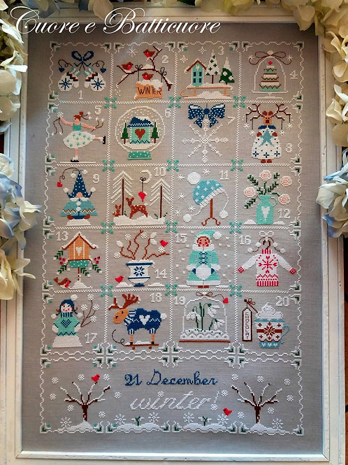 Shabby Winter Calendar (схема)