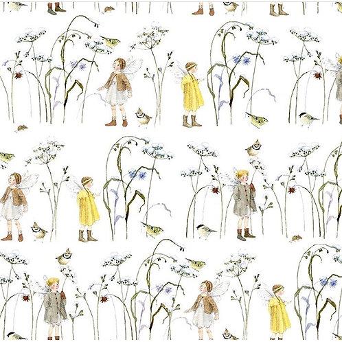 Эльфы на зимней траве ( ткань)