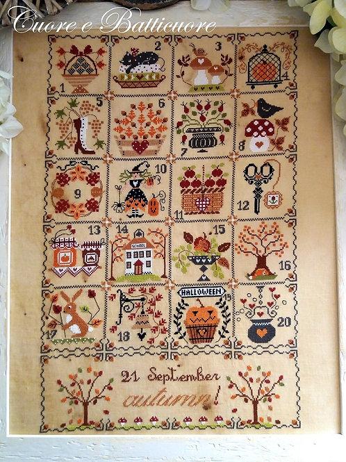 Shabby Autumn Calendar (схема)