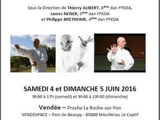 Stage de Tai Ji Quan et Qi Gong en Vendée les 4 et 5 Juin 2016