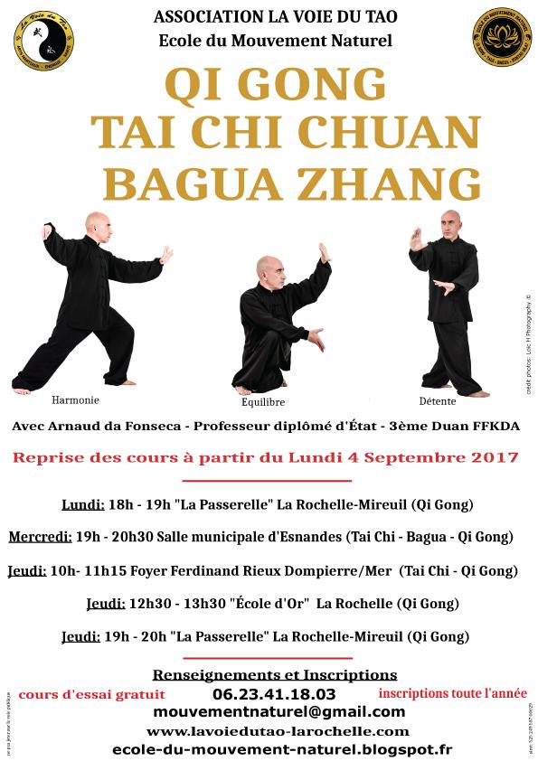 Qi Gong, Tai Chi Chuan et Bagua Zhang à La Rochelle